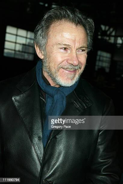 Harvey Keitel during Imitation of Christ Fall 2003 Fashion Show at Stables @ Chelsea Piers in New York, NY, United States.