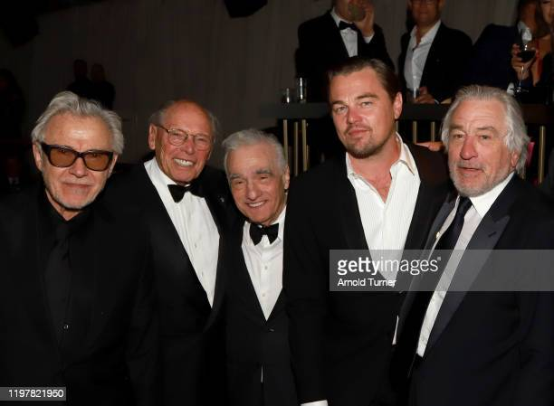 Harvey Keitel, Irwin Winkler, Martin Scorsese, Leonardo DiCaprio, and Robert De Niro attend the Netflix 2020 Golden Globes After Party on January 05,...