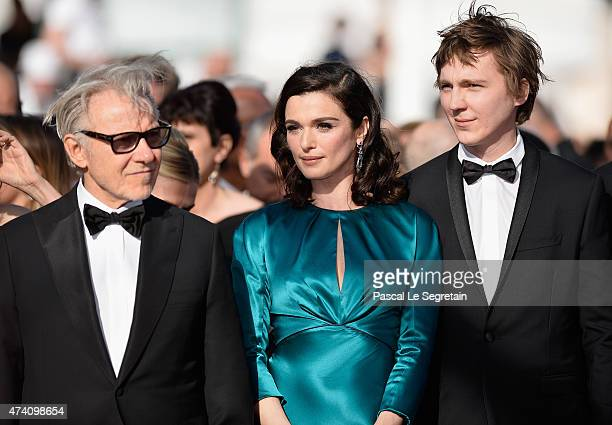 Harvey Keitel Rachel Weisz and Paul Dano attend the Premiere of Youth during the 68th annual Cannes Film Festival on May 20 2015 in Cannes France