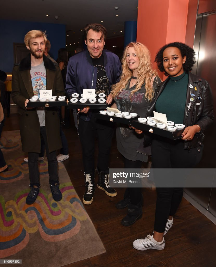 Harvey Kirby Ross, Jonathan Ross, Jane Goldman and guest attend a screening of 'mother!' hosted by Collette Cooper and Paramount Pictures in collaboration with Edible Cinema at The Soho Hotel on September 13, 2017 in London, England.