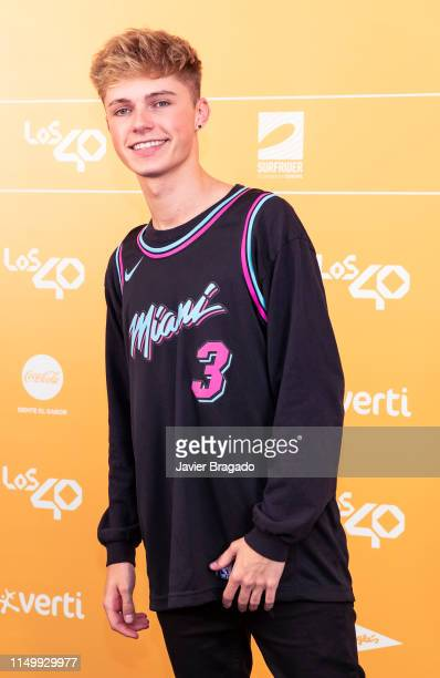 Harvey Leigh aka HRVY attends LOS40 Primavera Pop festival at Madrid WiZink Center on May 17 2019 in Madrid Spain
