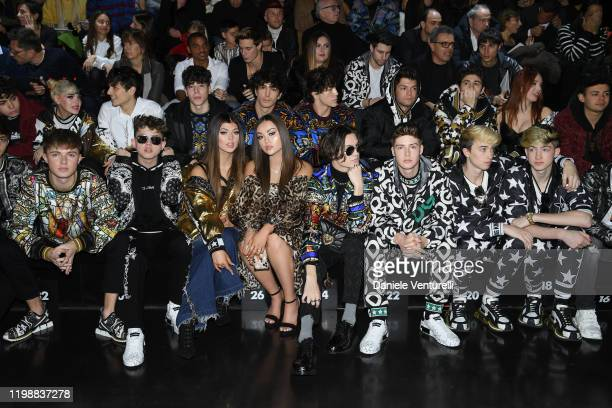 Harvey Leigh Cantwell Jacob Sartorius Loren Gray Brooke Taylor Kier Chase Hudson Blake Gray Cash Baker and Maverick Baker are seen at Dolce Gabbana...