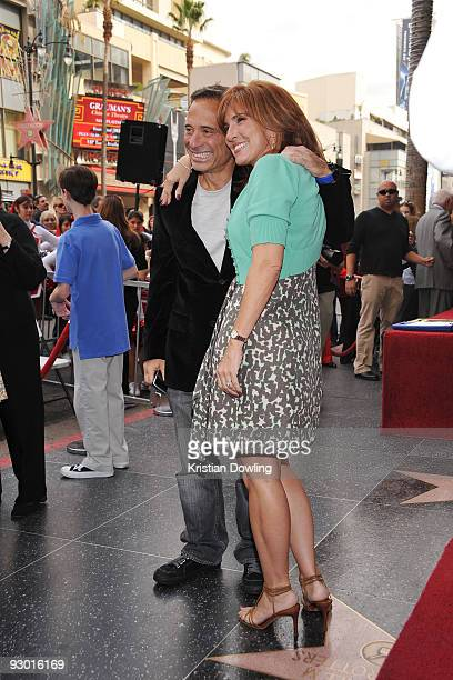 Harvey Levin and Judge Marilyn Milian attend the ceremony honoring Judge Joseph Albert Wapner with a star on the Hollywood Walk Of Fame on November...