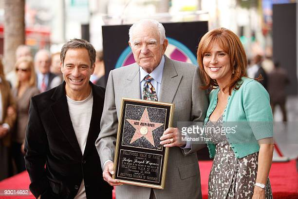 Harvey Levin, Judge Joseph A. Wapner and Judge Marilyn Milian attend the Judge Joseph A. Wapner - 90th Birthday celebration and honoring him with a...