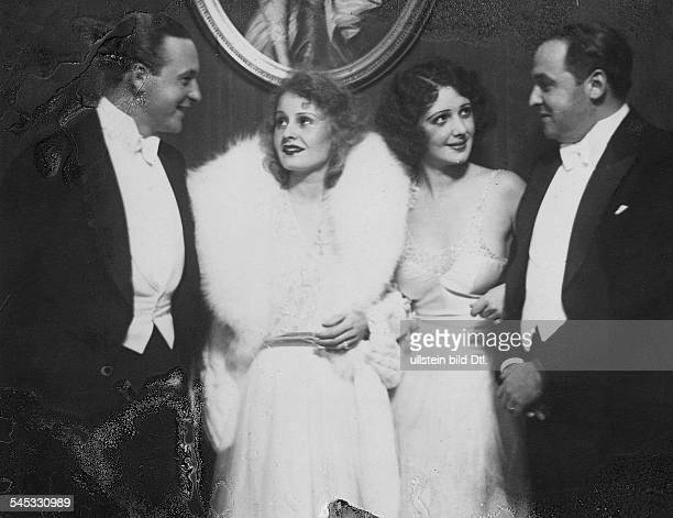 Harvey Lilian Actress Singer Germany / Great Britain * Scene from the movie ''' with Willi Fritsch Betty Amonn and Erich Pommer during 'Filmball'...
