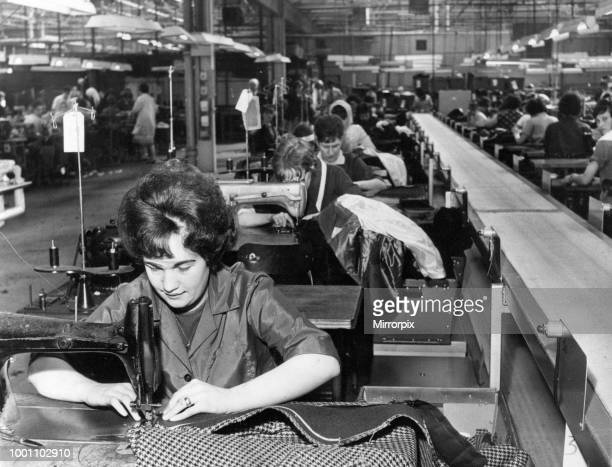 J Harvey Limited Clothing factory in Tredegar Blaenau Gwent southeast Wales Friday 2nd April 1965 The clothing factory which produces duffel coats...