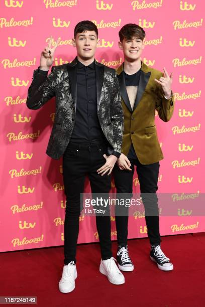 Harvey Mills and Max Mills attend the ITV Palooza 2019 at The Royal Festival Hall on November 12 2019 in London England