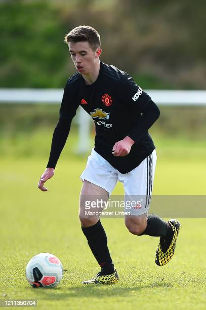 Harvey Neville of Manchester United U18s in action during the U18s Premier League match between Manchester United U18s and Sunderland U18s at The...