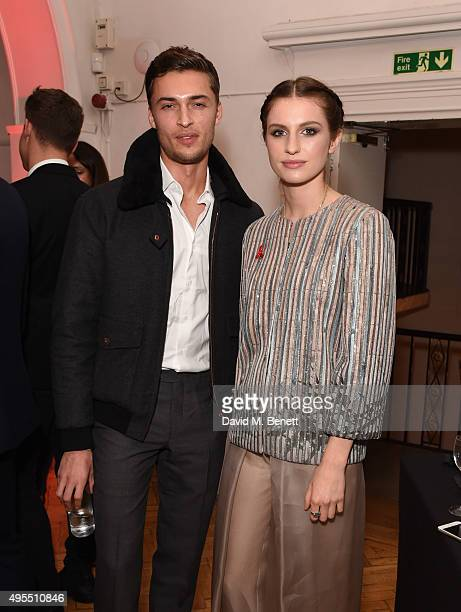 Harvey Newton Hayden and Tali Lennox attend a gala celebrating 15 years of mothers2mothers hosted by Annie Lennox at One Marylebone on November 3...