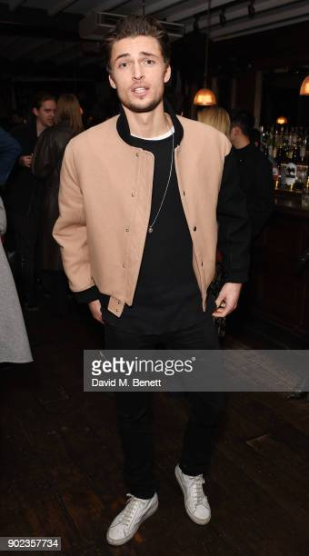 Harvey Newton Haydon attends the LFWM Official Party Pub LockIn during London Fashion Week Men's January 2018 at The George on January 7 2018 in...
