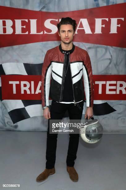 Harvey NewtonHaydon attends the Belstaff AW18 Mens Womens Presentation during London Fashion Week Men's January 2018 on January 8 2018 in London...