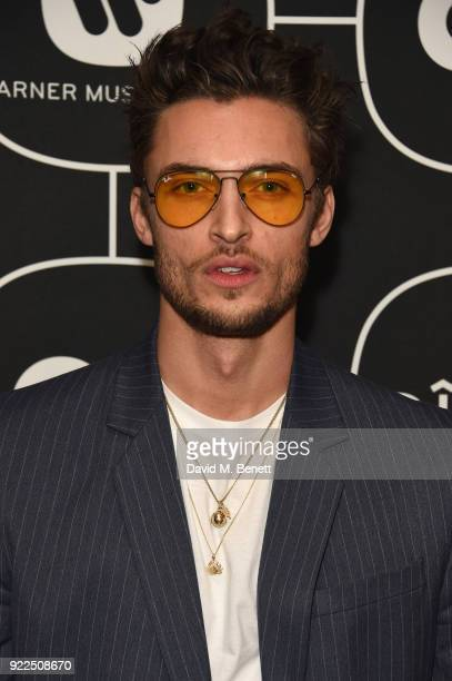 Harvey NewtonHaydon attends the Brits Awards 2018 After Party hosted by Warner Music Group Ciroc and British GQ at Freemasons Hall on February 21...