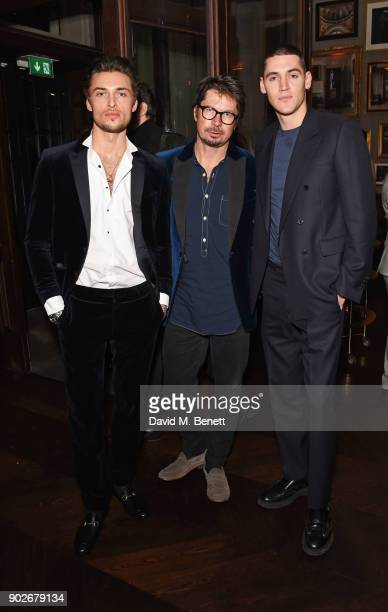 Harvey NewtonHaydon Oliver Spencer and Isaac Carew attend the GQ London Fashion Week Men's 2018 closing dinner hosted by Dylan Jones and Rita Ora at...