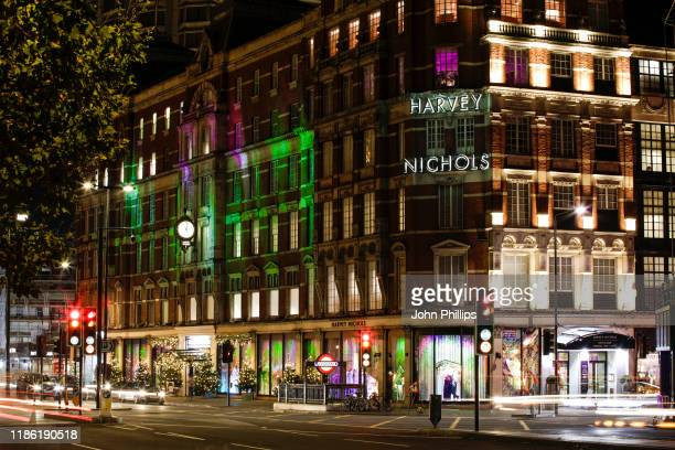 Harvey Nichols unveils 2019 Christmas display, inspired by Scandinavia and Northern Lights across flagship store in Knightsbridge on November 07,...