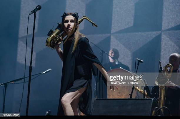 Harvey performs at Rock en Seine Festival at Domaine National de SaintCloud on August 26 2017 in Paris France