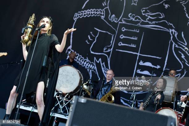 Harvey performs at the 2017 Forecastle Music Festival on July 16 2017 in Louisville Kentucky