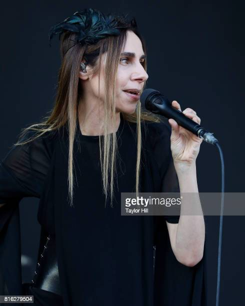 Harvey performs during the 2017 Forecastle Music Festival at Waterfront Park on July 16 2017 in Louisville Kentucky