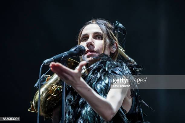 Harvey performs in concert at Poble Espanyol on August 23 2017 in Barcelona Spain