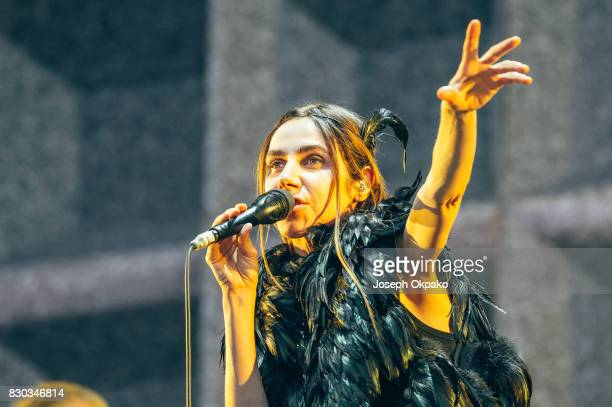 Harvey performs on stage on Day 3 of Sziget Festival 2017 on August 11 2017 in Budapest Hungary