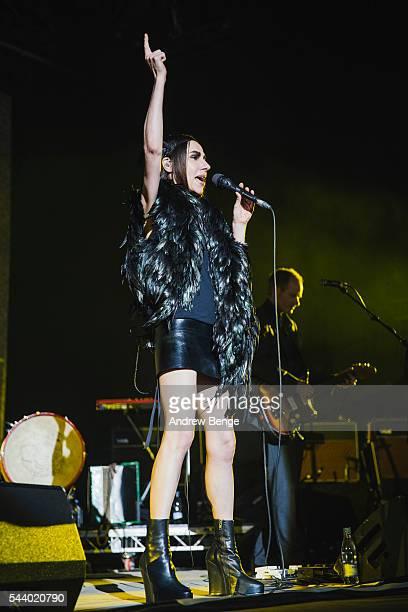 Harvey performs on the Arena stage during Roskilde Festival 2016 on June 30 2016 in Roskilde Denmark