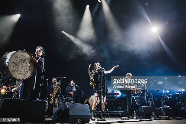 Harvey performs on the Arena stage during Roskilde Festival 2016 on June 30, 2016 in Roskilde, Denmark.