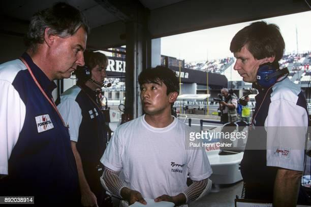 Harvey Postlethwaite JeanClaude Migeot Ukyo Katayama TyrrellYamaha 022 Grand Prix of France Circuit de Nevers MagnyCours 03 July 1994 Engineers...