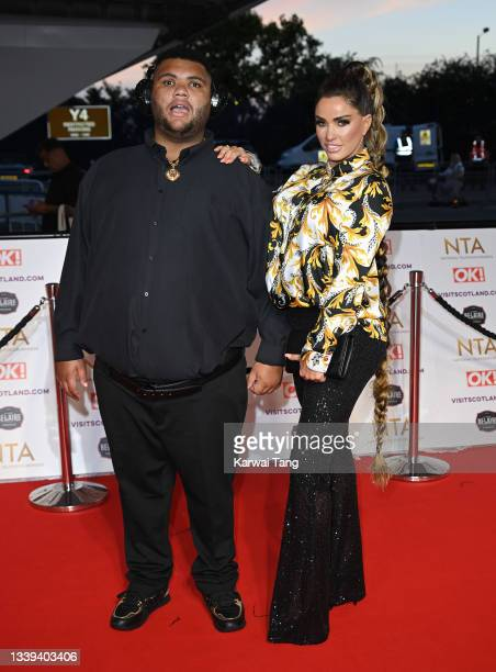 Harvey Price and Katie Price attend the National Television Awards 2021 at The O2 Arena on September 09, 2021 in London, England.