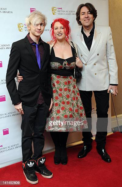 Harvey Ross, Jane Goldman and Jonathan Ross attends the 2012 British Academy Video Games Awards at London Hilton on March 16, 2012 in London, England.