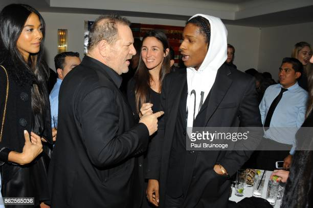 Harvey Weinstein and ASAP Rocky attend U2 Idris Elba Naomi Harris Bob Harvey Weinstein Anna Wintour with Burberry host a screening of MANDELA LONG...