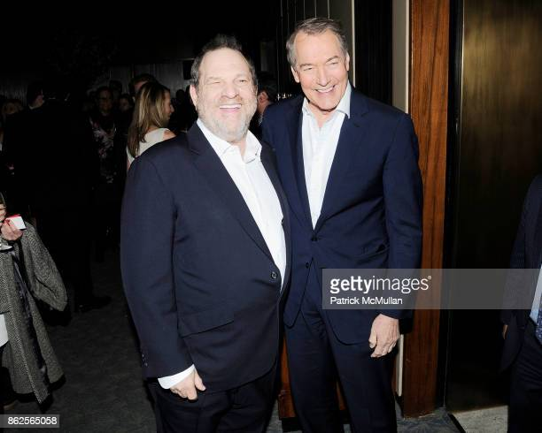Harvey Weinstein and Charlie Rose attend The Hollywood Reporter celebrates The 35 Most Powerful People in Media at The Four Seasons Pool Room on...