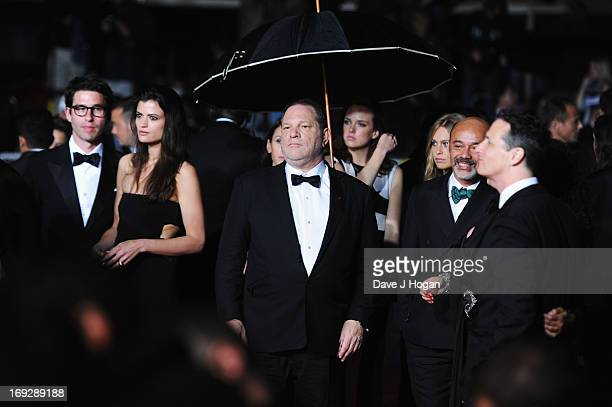Harvey Weinstein and Christian Louboutin attend the 'Only God Forgives' Premiere during the 66th Annual Cannes Film Festival at Palais des Festivals...