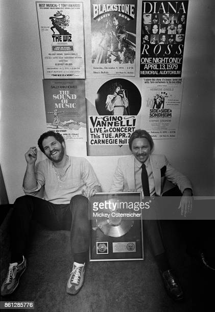Harvey Weinstein and Corky Berger at the Harvey and Corky Production Office in the Buffalo AUD in Buffalo New York