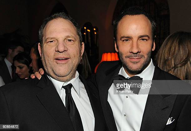 """Harvey Weinstein and director Tom Ford attend the AFI closing night party for Tom Ford and The Weinstein Company's """"A SINGLE MAN"""" at Chateau Marmont..."""