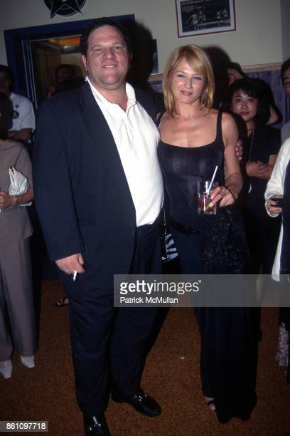 Harvey Weinstein and Ellen Barkin attend 'The Fan' New York City Premiere at Sony Theatres Lincoln Square on August 12 1996 in New York City