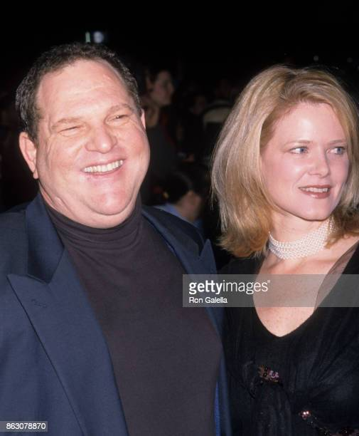 Harvey Weinstein and Eve Chilton Weinstein attend Charlie's Angels Screening on October 24 2000 at the Ziegfeld Theater in New York City