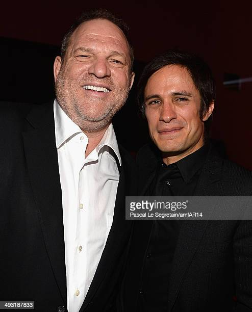 Harvey Weinstein and Gael García Bernal attend amfAR's 21st Cinema Against AIDS Gala Presented By WORLDVIEW BOLD FILMS And BVLGARI at Hotel du...