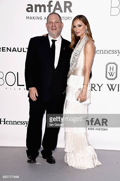 Harvey Weinstein and Georgina Chapman arrive at amfAR's 23rd Cinema Against AIDS Gala at Hotel du CapEdenRoc on May 19 2016 in Cap d'Antibes France
