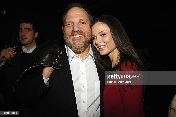 Harvey Weinstein and Georgina Chapman attend FACTORY GIRL Premiere After Party at Star Lounge on January 29 2007 in New York City