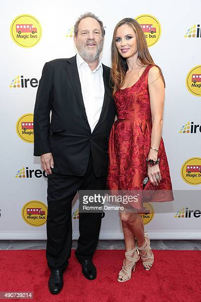 Harvey Weinstein and Georgina Chapman attend Magic Bus USA 2015 Benefit Gala at St Regis Hotel on September 30 2015 in New York City