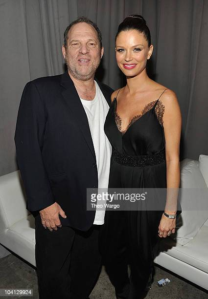 Harvey Weinstein and Georgina Chapman attend Marchesa S/S 2011 Presentation at Chelsea Art Museum on September 15 2010 in New York City