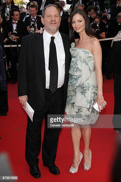 Harvey Weinstein and Georgina Chapman attend the 'Coco Chanel Igor Stravinsky' Premiere at the Grand Theatre Lumiere during the 62nd Annual Cannes...