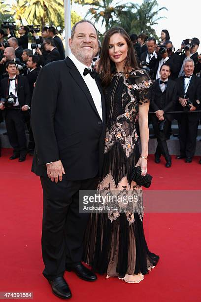 Harvey Weinstein and Georgina Chapman attend the Little Prince Premiere during the 68th annual Cannes Film Festival on May 22 2015 in Cannes France