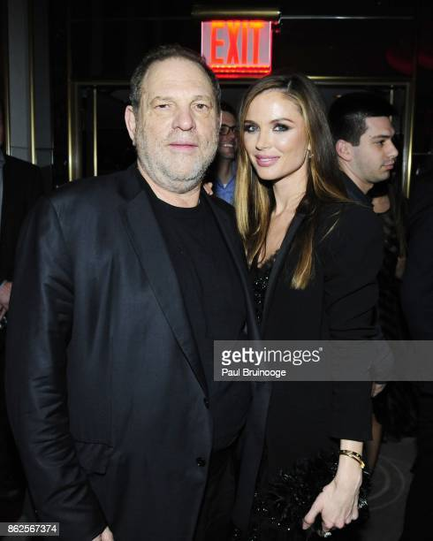 Harvey Weinstein and Georgina Chapman attend The New York premiere of 'The Hateful Eight' After Party at Rainbow Room on December 14 2015 in New York...