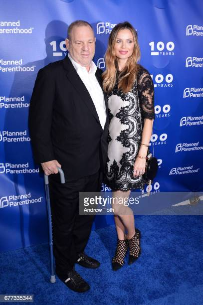 Harvey Weinstein and Georgina Chapman attend the Planned Parenthood 100th Anniversary Gala at Pier 36 on May 2 2017 in New York City