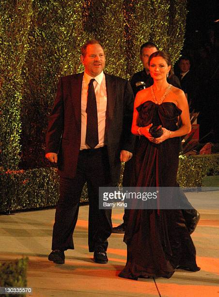 Harvey Weinstein and Georgina Chapman during 2006 Vanity Fair Oscar Party Hosted by Graydon Carter Arrivals at Morton's in West Hollywood California...