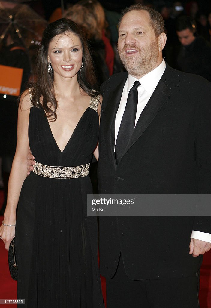Harvey Weinstein (right) and Georgina Chapman during The Orange British Academy Film Awards 2006 - Arrivals at Odeon Leicester Square in London, Great Britain.