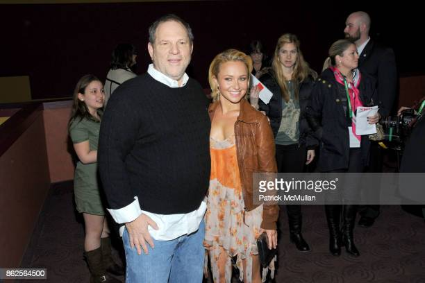 Harvey Weinstein and Hayden Panettiere attend THE TRIBECA FILM FESTIVAL and CINEMA SOCIETY premiere of HOODWINKED TOO HOOD VS EVIL at Chelsea...