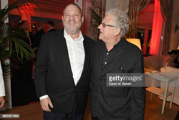 Harvey Weinstein and Jeremy Thomas attend The 9th Annual Filmmakers Dinner hosted by Charles Finch and JaegerLeCoultre at Hotel du CapEdenRoc on May...