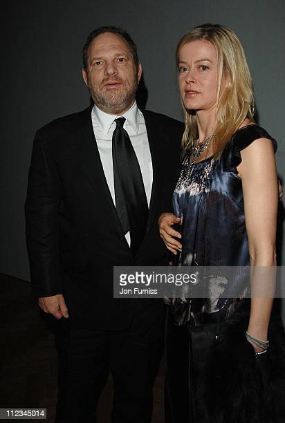 Harvey Weinstein and Lady Helen Taylor during Lancome Colour Design Awards 2006 Inside at Linley Hall in London Great Britain