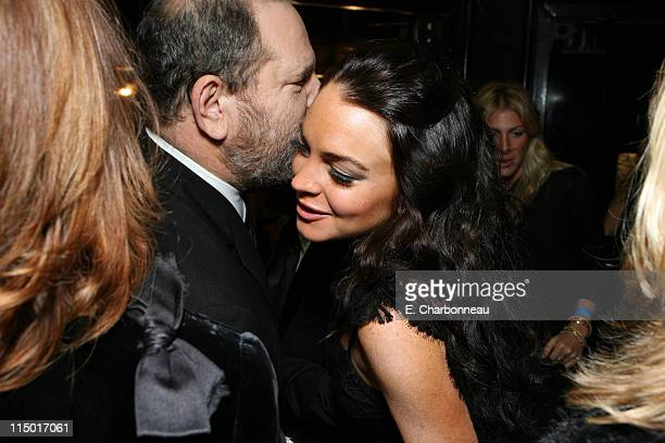 Harvey Weinstein and Lindsay Lohan during The Weinstein Company Hosts Black Tie Opening Night Gala and US Premiere of Emilio Estevez's Bobby at...
